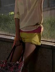 baratos -Mulheres Fofo Cintura Média Sem Elasticidade Jeans Calças, Algodão Verão Sólido