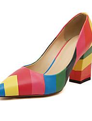 cheap -Women's Shoes Leatherette Summer Chunky Heel Orange / Blue