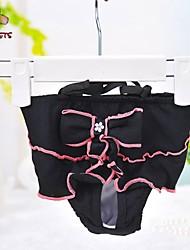 Kat Hund Bukser Hundetøj Cosplay Bryllup Sløjfeknude Sort Kostume For kæledyr