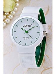 cheap -Women's Quartz Wrist Watch Hot Sale Silicone Band Charm Fashion White