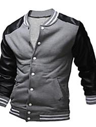 お買い得  -男性用 クラシック・タイムレス スウェットシャツ フーディー&スエットシャツ - 多色 カラーブロック, フォーマル