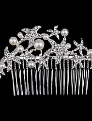 cheap -Palace Hairpins Starfish Comb for Women Rhinestone Crystals Wedding Hair Accessories Party Wedding Bridal Jewelry