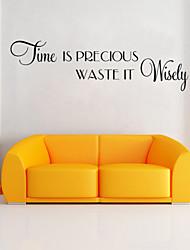 wall stickers vægoverføringsbilleder stil tid engelske ord&citerer pvc wall stickers