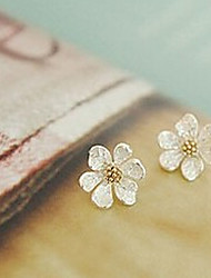 cheap -Women's Stud Earrings - Flower, Daisy Silver For