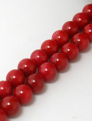 cheap -Beadia 38Cm/Str (Approx 55PCS) 7mm Round Red Coral Beads Dyed Red Color Coral Loose Beads DIY Accessories
