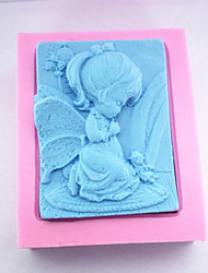 Baking Molds 3D The Little Girl Soap Mold