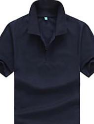 Informell Ständer - Kurzarm - MEN - T-Shirts ( Baumwolle )