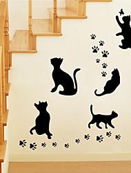 wall stickers da parete in stile decalcomanie gatto nero adesivi murali in pvc