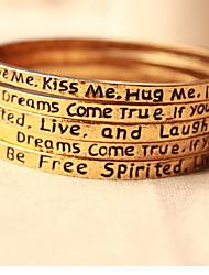 Talking Letters Wish Bracelets