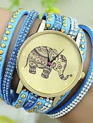 cheap -Women's Quartz Bracelet Watch Imitation Diamond Leather Band Charm Fashion Black White Blue Red Pink Rose