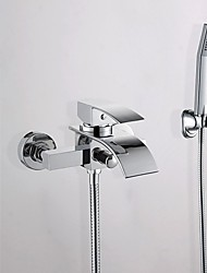 cheap -Bathtub Faucet - Contemporary Chrome Wall Mounted Ceramic Valve