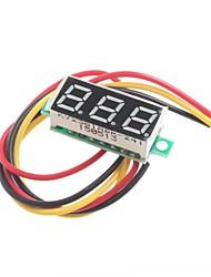 0,28 pouces ultra-petite réglable dc0-100v trois fils numérique voltmètre numérique dc