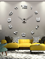 cheap -Large Metal Home Decor DIY Creative Personality Wall Clock 12S008