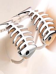 roztomilý rybí kosti stříbrné stud náušnice klasický ženský styl