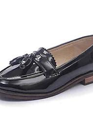 baratos -Mulheres Sapatos Courino Primavera Sem Salto Preto / Cinzento / Amêndoa
