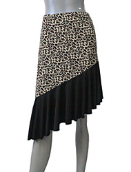 cheap -Nylon/Lycra Leopard Latin Skirts for Ladies and Girls