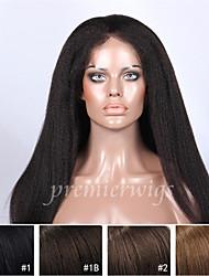 economico -Cappelli veri Lace integrale Parrucca Liscio Parrucca 130% Attaccatura dei capelli naturale / Parrucca riccia stile afro / 100% cucito a mano Per donna Corto / Medio / Lungo Parrucche di capelli