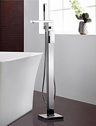 cheap -Bathtub Faucet - Contemporary Chrome Floor Mounted Ceramic Valve