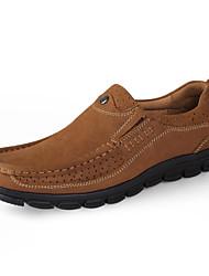 abordables -Homme Chaussures Similicuir Cuir Printemps Automne Confort Mocassins et Chaussons+D6148 Marche pour Décontracté Brun claire Brun Foncé