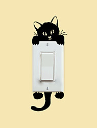 Wall Stickers Wall Decals Style Kitten Switch PVC Wall Stickers