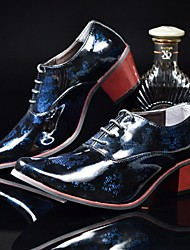 cheap -Men's Shoes Patent Leather Spring Summer Comfort Bullock shoes Oxfords For Wedding Office & Career Party & Evening Gold Sliver Red Blue