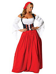 cheap -Womens Australian National Dress Oktoberfest Costume Cosplay Costumes/Party Costumes Beautiful Red/White Longuette Female Oktoberfest Costumes