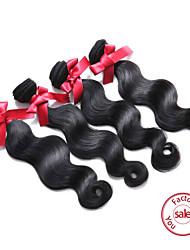 billige -4 pakker Peruviansk hår Krop Bølge Menneskehår, Bølget Menneskehår Vævninger Menneskehår Extensions