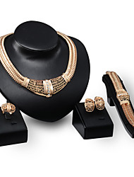 cheap -Shape Vintage Cute Party Casual Statement Jewelry Fashion Jewelry Set Statement Necklace 18K Gold Alloy Jewelry Set Statement Necklace