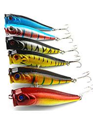 """economico -6 pc Popper Esca Popper Nero Blu scuro Oro Rosso Colori assortiti Blu g/Oncia,90mm mm/3-1/2"""" pollice,Plastica duraPesca di mare Pesca di"""