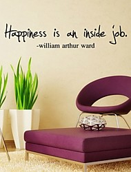 "Motto Printing""Happiness Is An Inside Job"" Wall Sticker"
