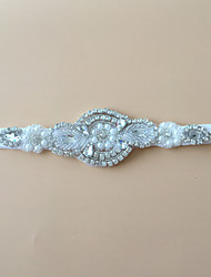 cheap -Stretch Satin Fashion Wedding Garter with Rhinestone Garters