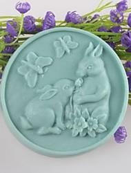 Недорогие -два кролика в форме бабочки мыло формы формы помады торт шоколадный силиконовые формы, отделочные инструменты Формы для выпечки