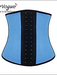 cheap -Burvogue Women's Blue Sport Latex Girdle Underbust Corset Waist Shaper