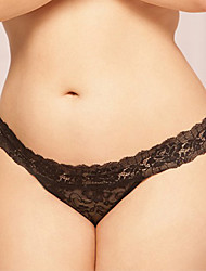 cheap -Women's Jacquard Ultra Sexy Panties Polyester Lace White Black Blue Pink