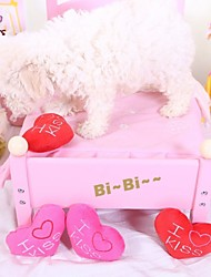 Недорогие -Игрушка для собак Игрушки для животных Жевательные игрушки Плюшевые игрушки Скрип Сердце Для домашних животных