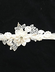 cheap -Stretch Satin Fashion Wedding Garter with Flower Garters