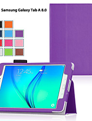 cheap -DE JI Case For Samsung Galaxy / Tab A 8.0 / Tab A 9.7 Samsung Galaxy Case with Stand / Flip Full Body Cases Solid Colored PU Leather for