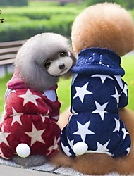 cheap -Dog Hoodie Jumpsuit Dog Clothes Stars Red Blue Polar Fleece Costume For Pets Men's Women's Cute Casual/Daily