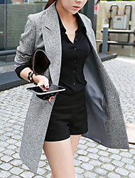 Fall Blazer Long Sleeve Long Others