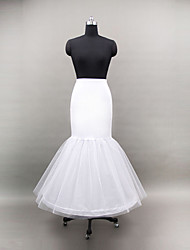 Wedding Special Occasion Slips Polyester Tulle Netting Floor-length Mermaid and Trumpet Gown Slip With
