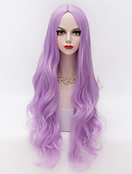 Synthetic Wigs for Women Light Purple  Long Natural Wave Costume Wigs Cosplay Wigs
