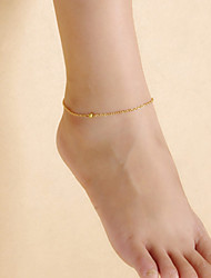 cheap -Fashion Women Beach Yoga Dance Simple Matte Beads Chain Anklets