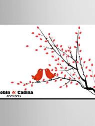 e-Home® personlig fingeraftryk maleri lærred udskriver -birds på grenen (omfatter 12 blækfarver)