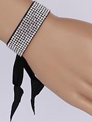 cheap -Women's Chain Bracelet Vintage Bracelet Wrap Bracelet Friendship Bracelet Unique Design Fashion Rhinestone Fabric Others Jewelry Daily