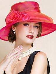 Недорогие -Для женщин Для женщин Очаровательный/Для вечеринки Широкополая шляпа , Сетка , Лето