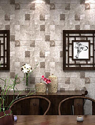 3D Brick Wallpaper Contemporary Wall Covering , PVC/Vinyl 0.53m*10m