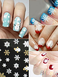 1 Autocollant d'art de clou Autocollants 3D pour ongles Adorable Maquillage cosmétique Nail Art Design