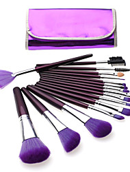 Professional 12pcs Makeup Brushes Set Make-up Kit Brush Set Foundation Power Eyeliner Brushes Purple Color