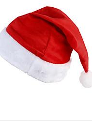 Новый Санта бархат шляпа Christmas Party красный и белый колпак для костюме Санта-Клауса