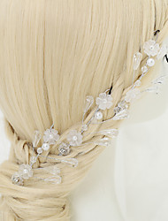 Crystal Imitation Pearl Rhinestone Alloy Hair Pin Headpiece